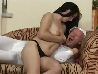 Young dude pounded with strap on