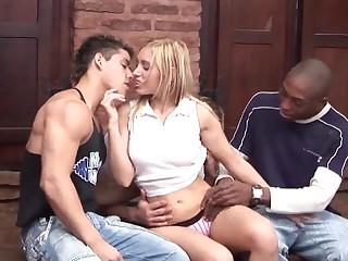 GANGBANG Slut Loving DP Big Cocks Interracial