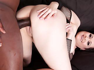 Sexy MILF Diana Swiet fucks a black guy