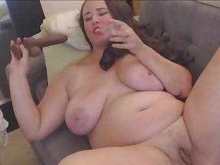 Busty BBW Lady Fucks Dildo For Great Orgasm