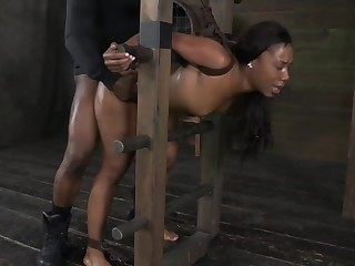 Chanell Heart Gets Bound To A Ladder And Fucked Up