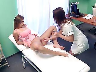 Nurse enjoys some lesbian pussy