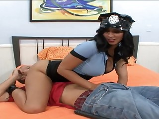 Busty Police Officer Rides a Hard Cock