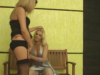 Alexia and Samara horny trannies in action