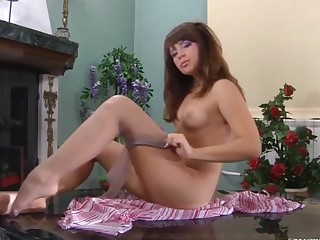 Jessica featured in pantyhose video