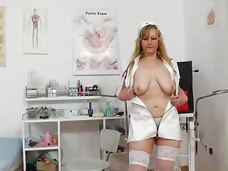 Stunning head nurse gets perverse again