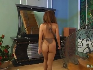 Jessica in naughty pantyhose video