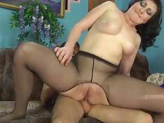 Gwendolen and Jack sexy anal pantyhose action