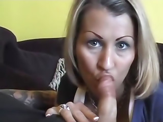 Milf is sucking a cock