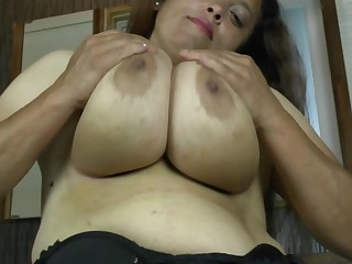 Latin housewife with huge rack enjoys a hard cock
