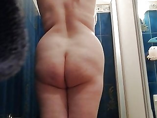 My blonde PAWG takes a shower