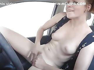 exhibitionist masturbation on a car wash