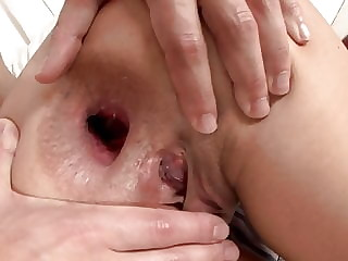 Rough Hardcore Ass gaping with Hot lexis ended with anal pie