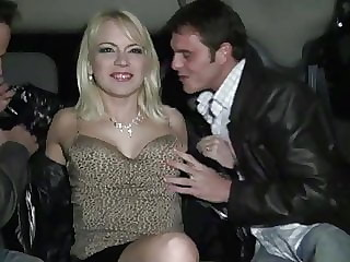 Sandrine cheats on her husband and gets gangbanged in her ca