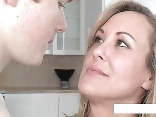 Mom Teaches Young Couple Facial