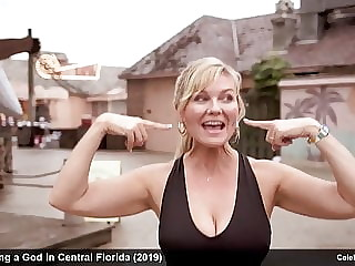 actress Kirsten Dunst stripping and bikini movie scenes