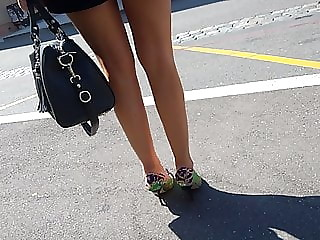Sexy legs and crazy heels