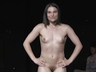 Nora Horvath spreads her legs to reveal her vagina skin