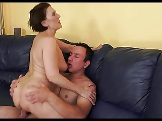 Sexy, Saggy, Flabby Euro Mature Can't Stop Cumming On Cock.